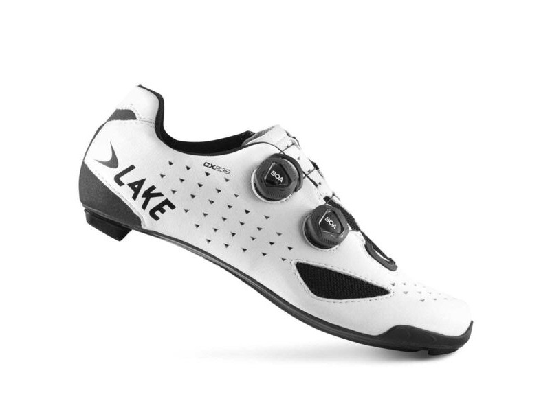 LAKE CX238 Carbon Road Shoe Wide Fit White click to zoom image