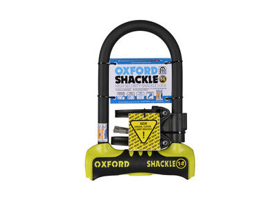 Oxford Shackle 14 U-Lock 260 x 177mm - Yellow