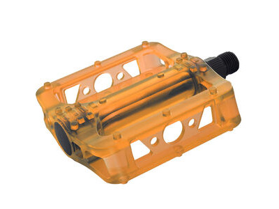 Oxford BMX Pedal Cr-mo axle - Crystal Orange
